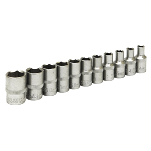 "11pc 1/4"" Drive Metric Sockets"