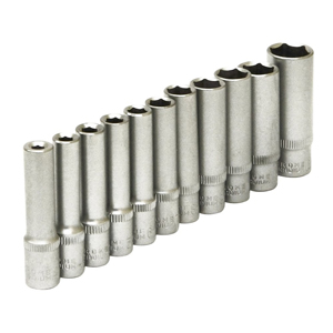 "11pc 1/4"" Sq. Dr. Metric Deep Sockets"