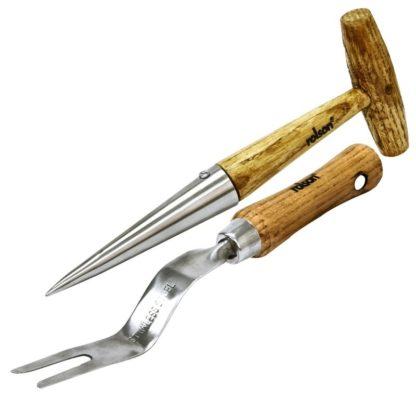 Weeder & Dibber Ash Wood Handle