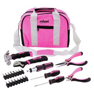 25pc Pink Tool Bag Kit