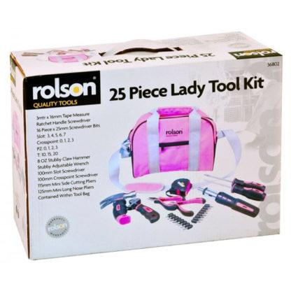 25pc Pink Tool Bag Kit