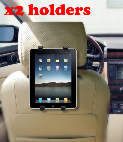 2x In Car Tablet / iPad Holder