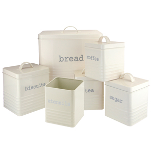 Kitchen Storage Rectangular, Cream, Set of 6