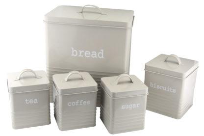 Kitchen Storage Rectangular, Grey, Set of 6