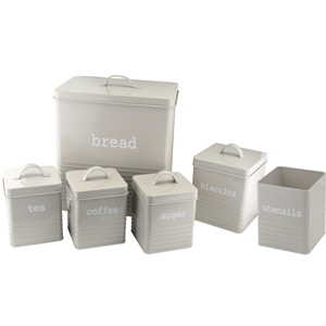 Kitchen Storage Rectangular, Grey, Set of 6