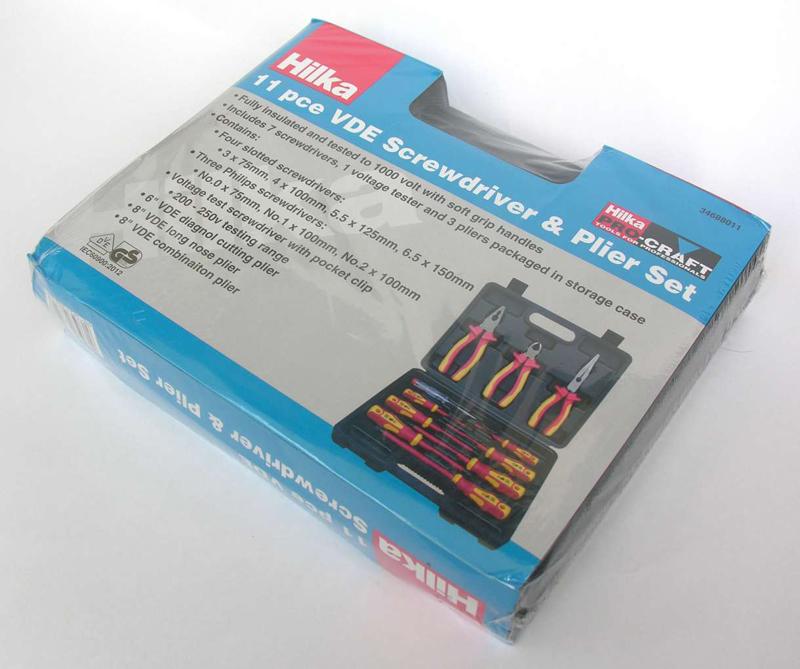 11pc VDE Screwdriver /& Plier Set Voltage Tester Slotted Philips 1000 Volt HILKA