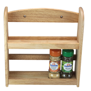 2-Tier Spice Rack - Natural