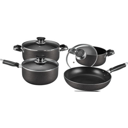 7pc Cookware Set with Glass Lids