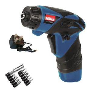 3.6v Li-ion Cordless Screwdriver with Bits and Work Light